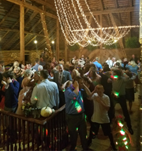 Packed Dance Floor picture taken from Wedding DJ Booth at Bittersweet Barn