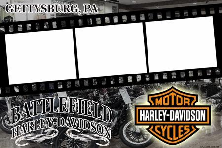 Battlefield Harley Davidson Photo Booth Print
