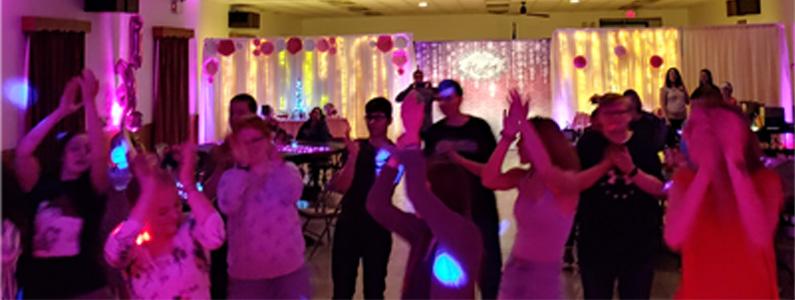 Kids dancing on Dance Floor at Sweet 16 Party